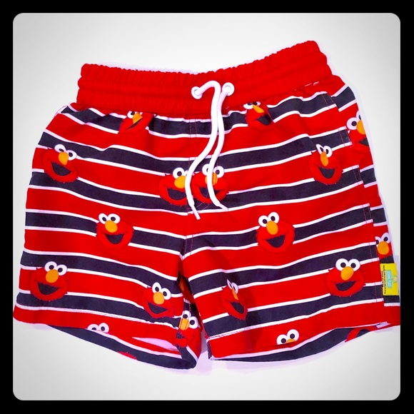 183ea8c38b Toddler boys Elmo bathing suit. M_5c44c92c534ef9e626bc968e. Other Swims you  may like. Sesame Street Striped Swim Trunks